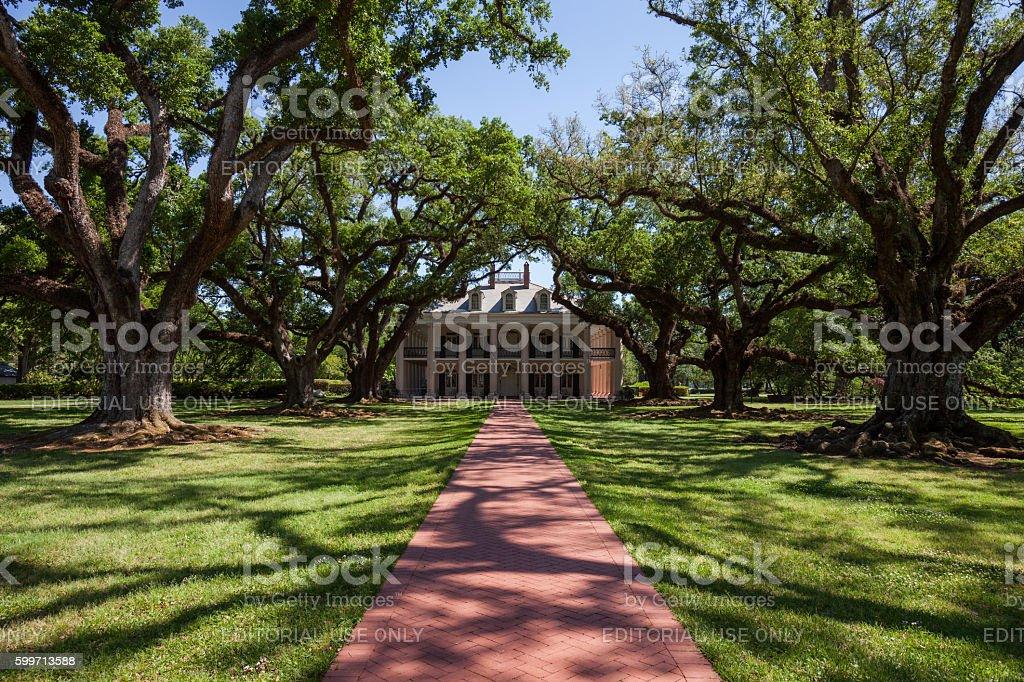 Oak Alley Plantation Home Landmark  Louisiana stock photo