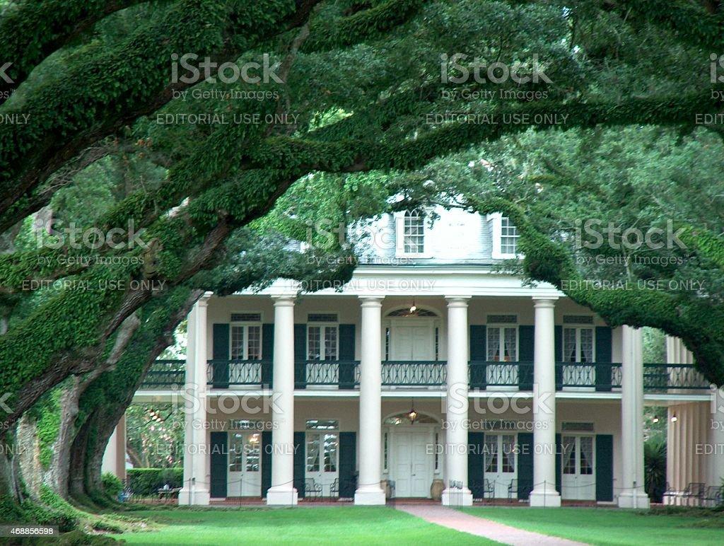Oak Alley Plantation House stock photo