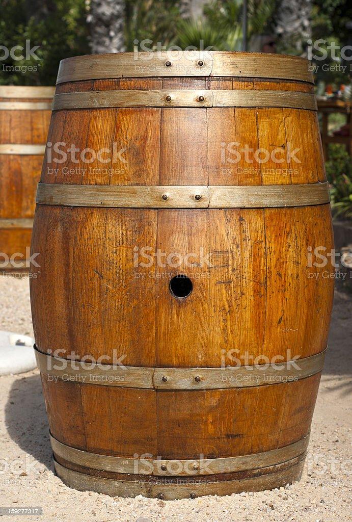 Oak barrel royalty-free stock photo