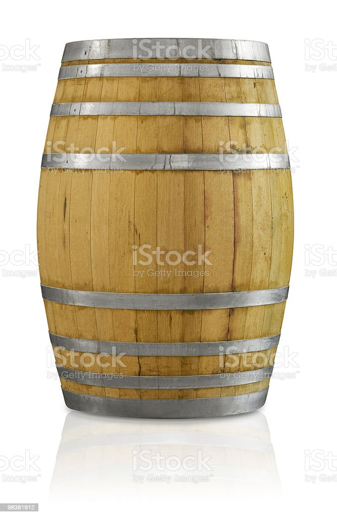 Oak Barrel stock photo
