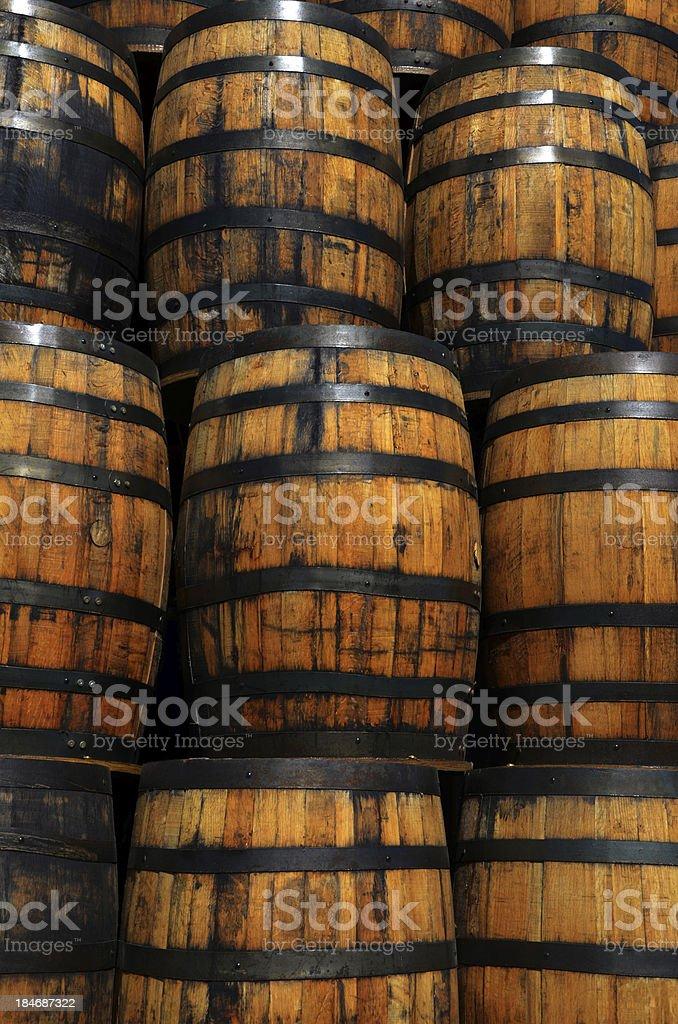 Oak Barrels stock photo