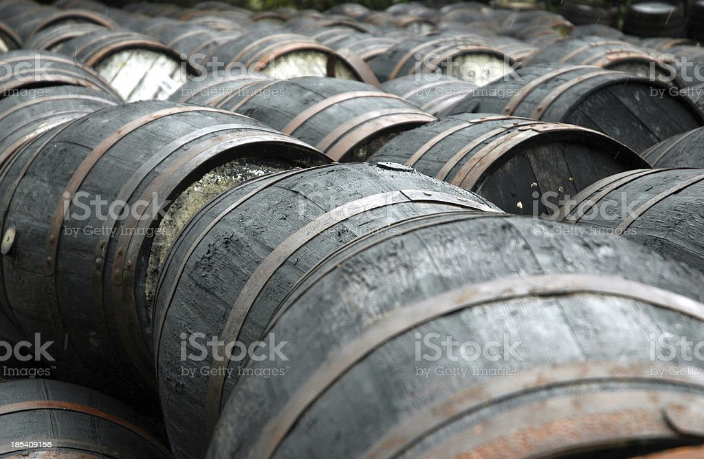 Oak Barrels royalty-free stock photo