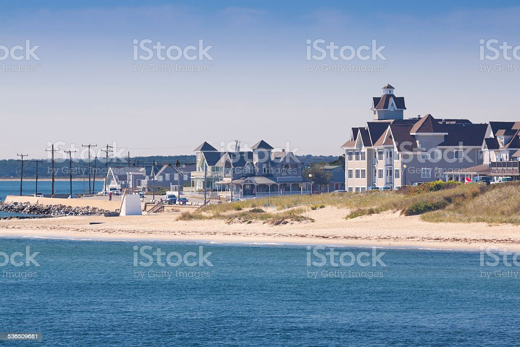 Oak Bluffs, Martha's Vineyard, Massachusetts, USA. stock photo