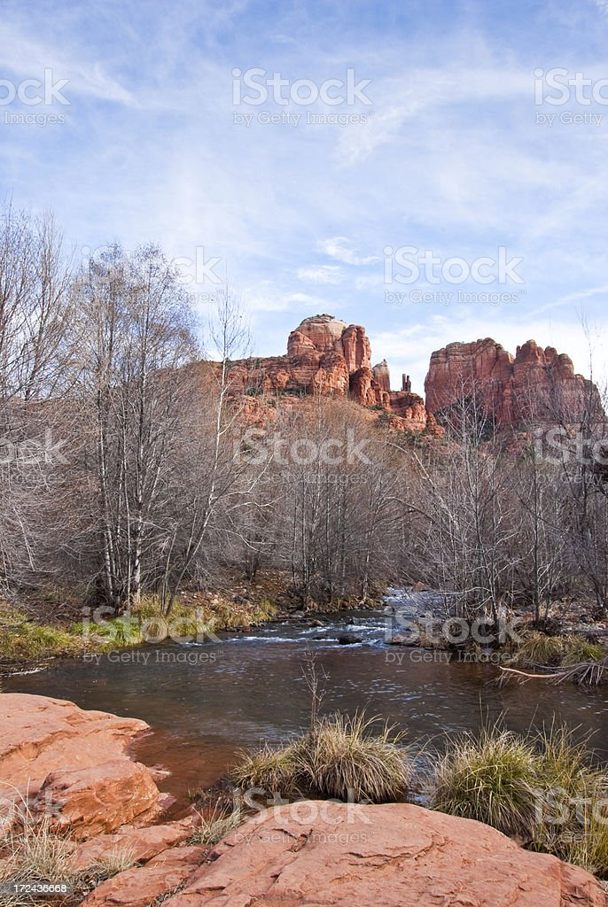 Oak Creek and Cathedral Rocks royalty-free stock photo