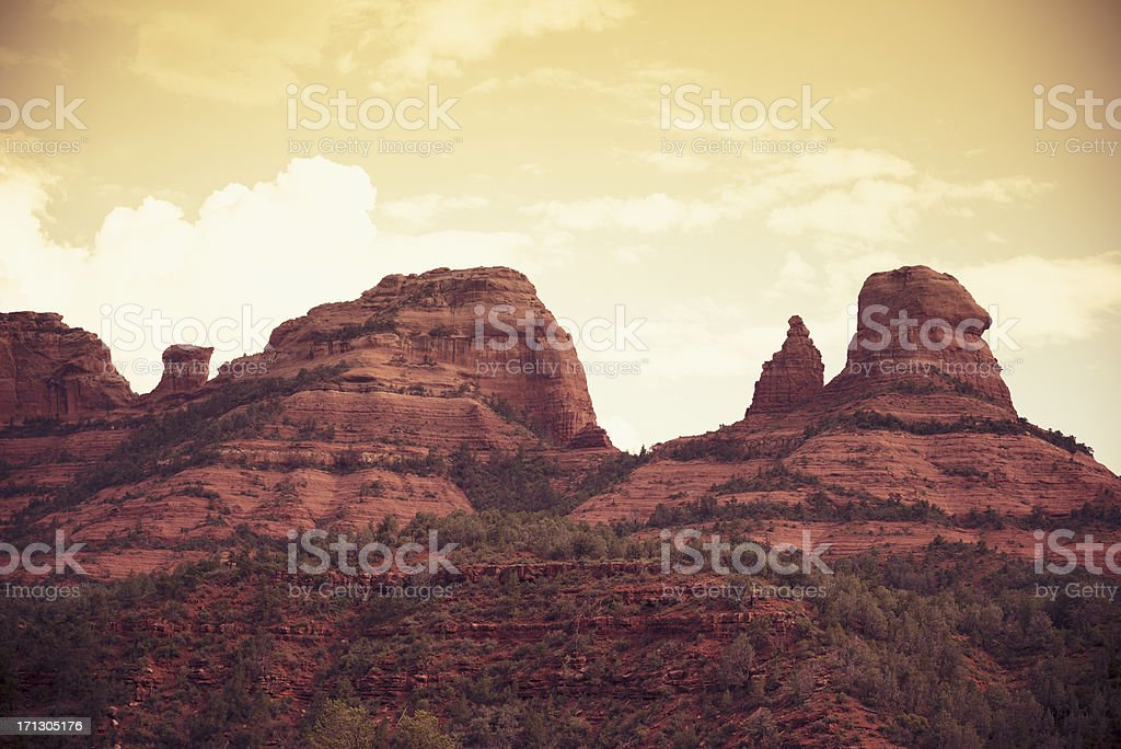 Oak Creek and Red Rock - Arizona stock photo