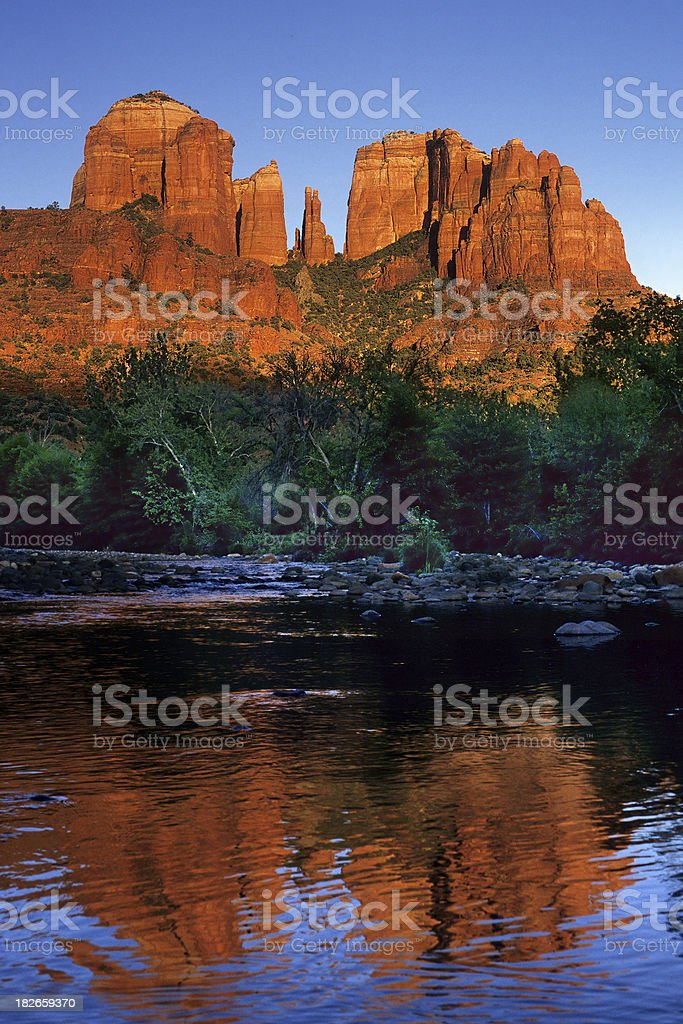 Oak Creek and Red Rock stock photo