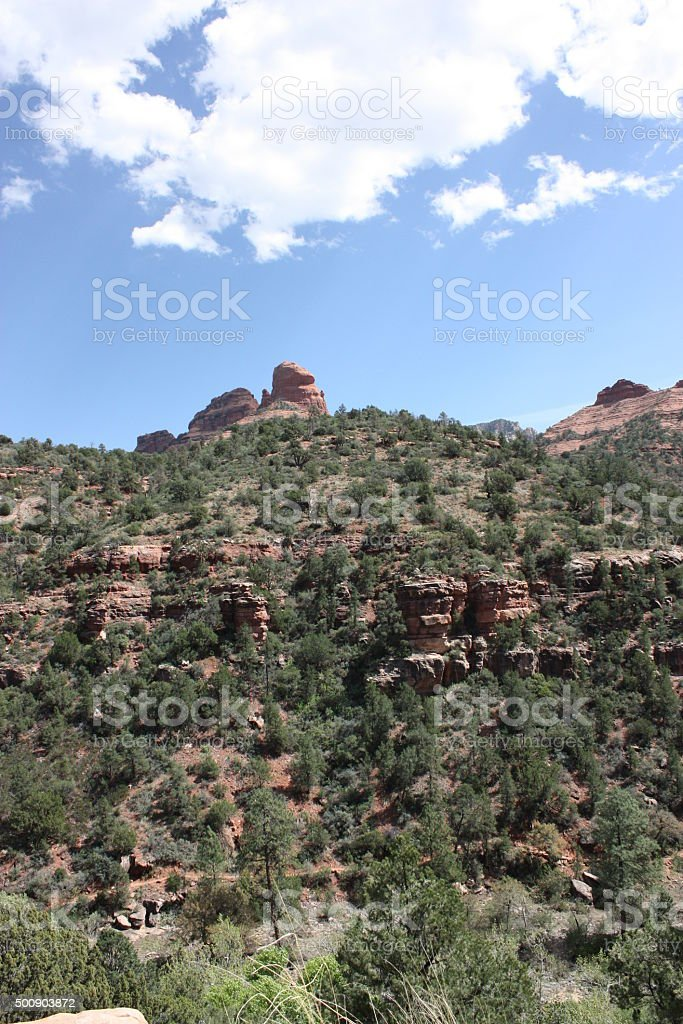 Oak Creek Canyon along the Arizona State Route 89A stock photo
