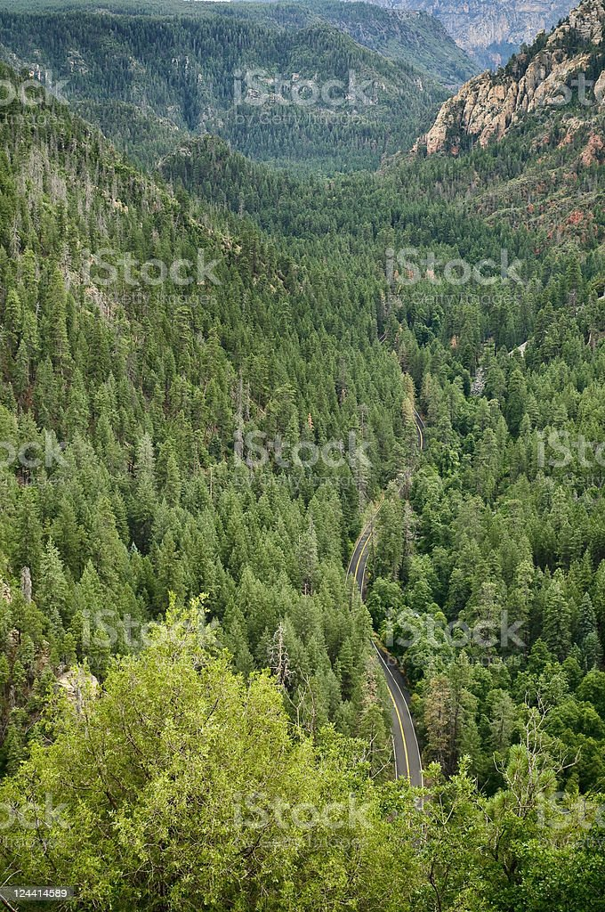 Oak Creek Canyon, Arizona foto de stock libre de derechos