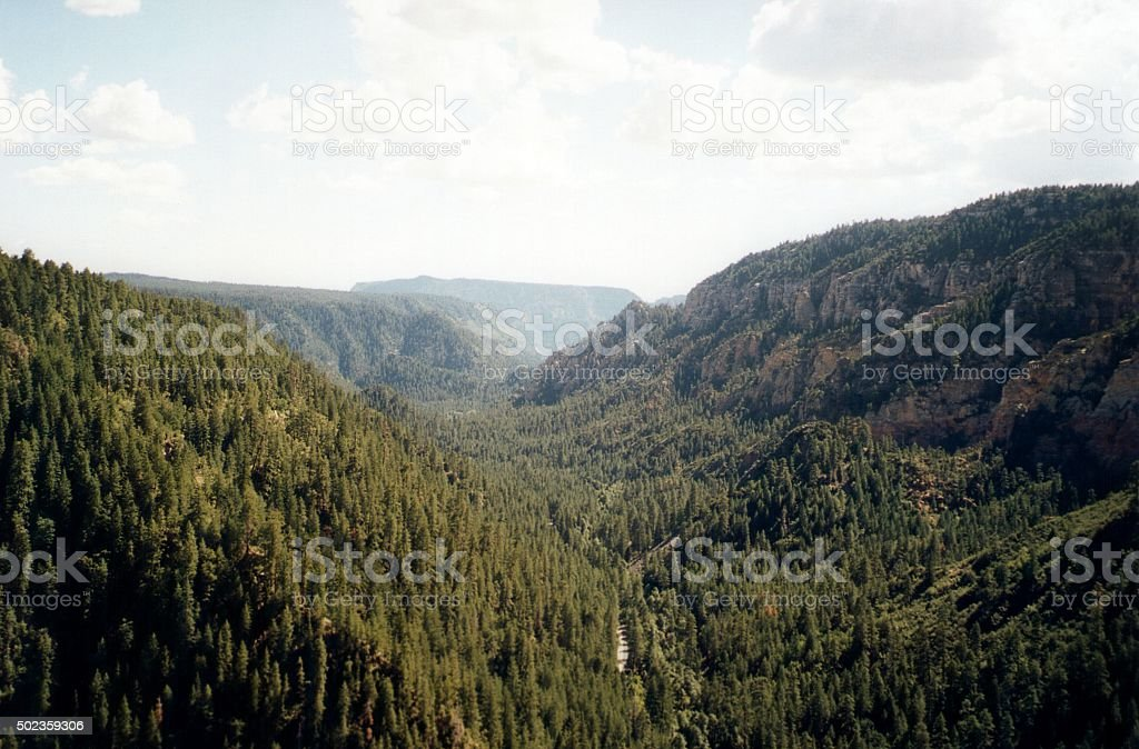 Oak Creek Canyon, Arizona stock photo