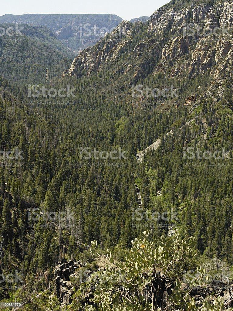Oak Creek Canyon I royalty-free stock photo