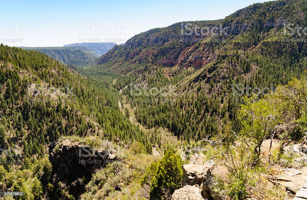 Oak Creek Canyon stock photo