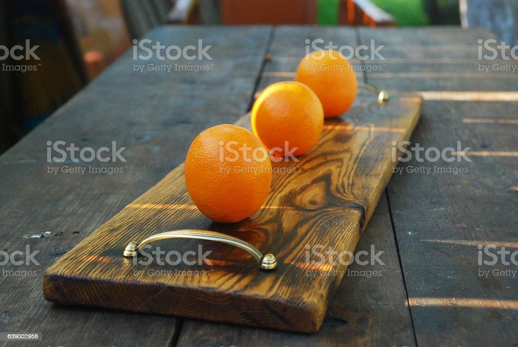 Oak cutting board stock photo