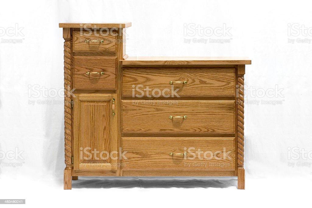 oak dresser royalty-free stock photo