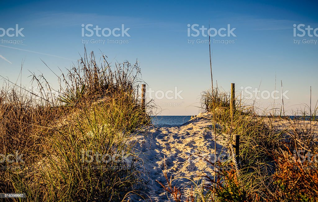 Oak Island Beach Access stock photo