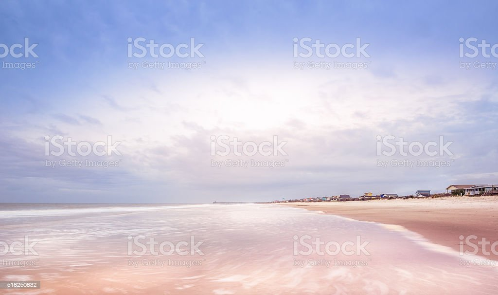 Oak Island Beach Resort stock photo