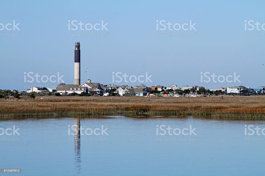 Oak Island Lighthouse stock photo