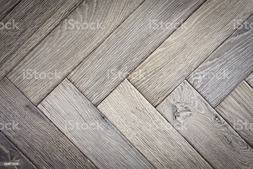 Oak Parquet Floor Close Up stock photo