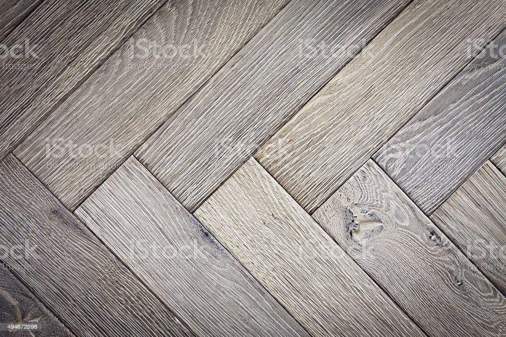 Oak Parquet Floor Close Up stock photo