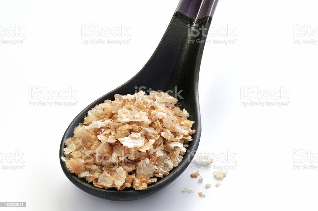 Oak Smoked Salt royalty-free stock photo