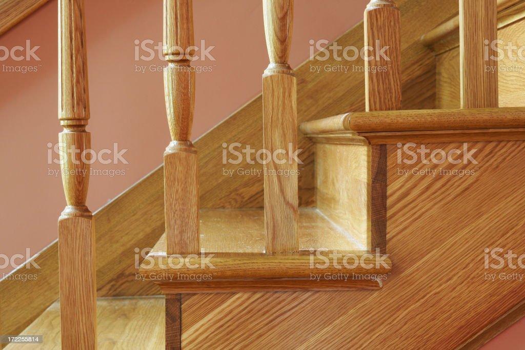 Oak Stairway royalty-free stock photo