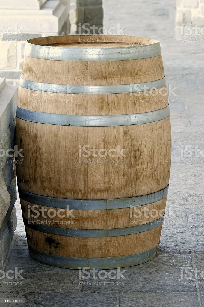 oak wine barrel royalty-free stock photo