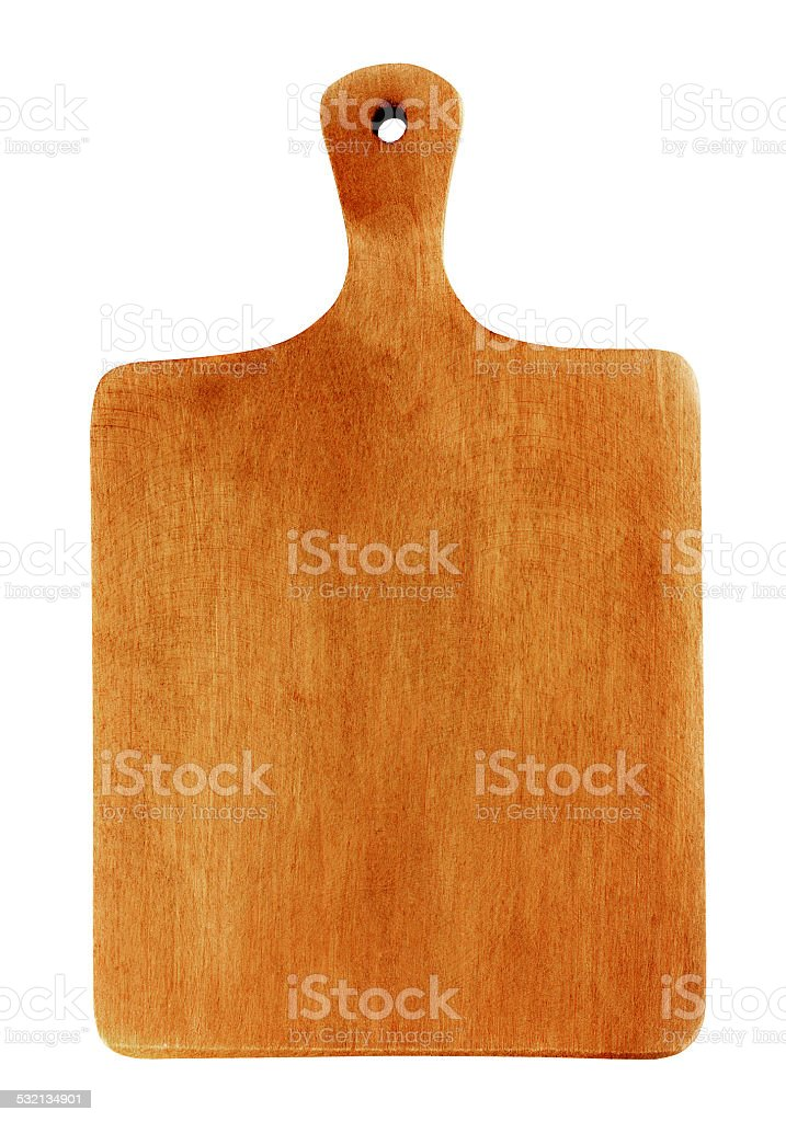 oak wooden cutting or chopping board isolated on white stock photo