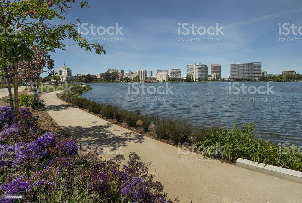 Oakland and Lake Merritt stock photo