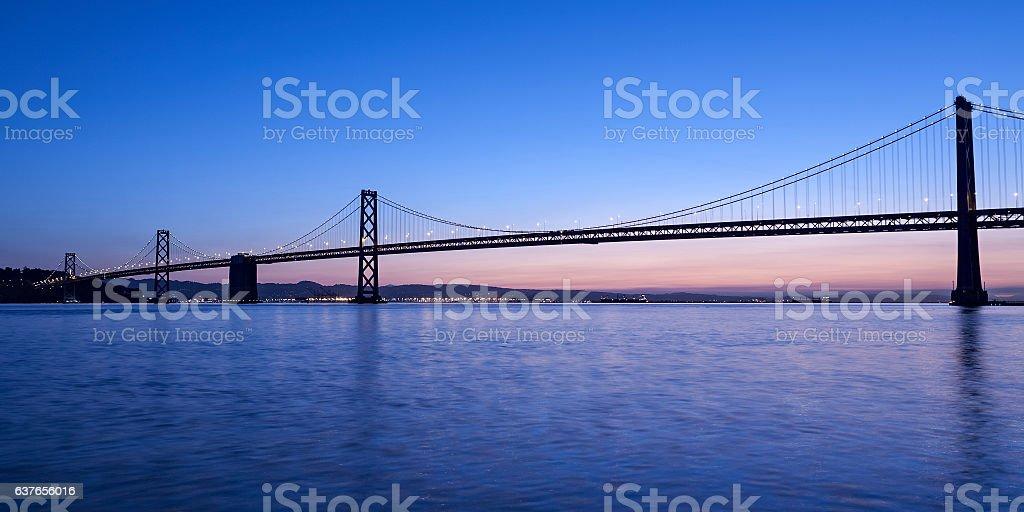 Oakland Bay Bridge, San Francisco, California stock photo