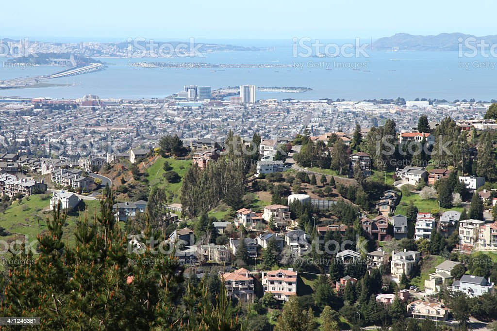 Oakland Hills royalty-free stock photo