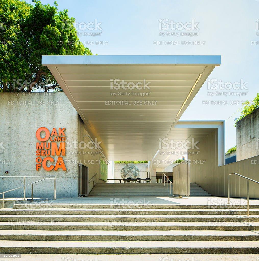 Oakland museum of California entrance stock photo