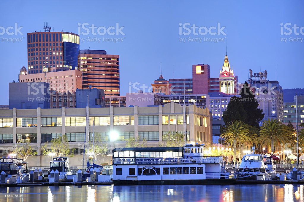 Oakland waterfront stock photo