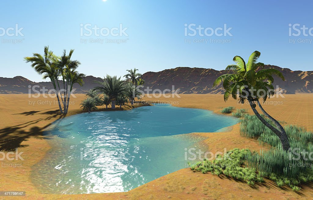 Oasis royalty-free stock photo