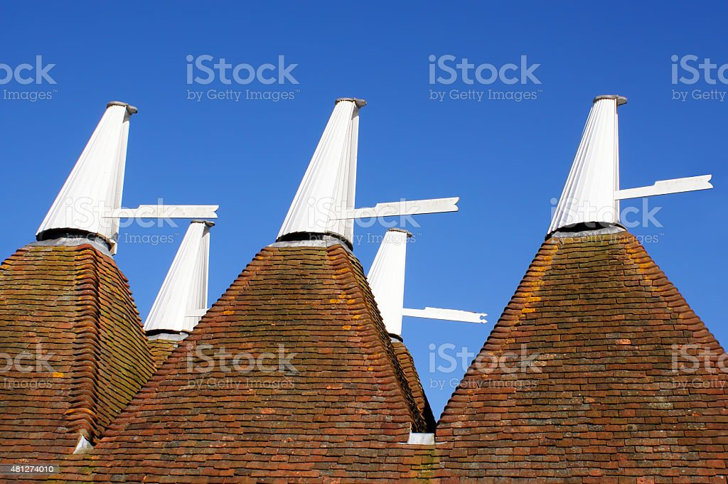 Oast House Cowls in Kent stock photo
