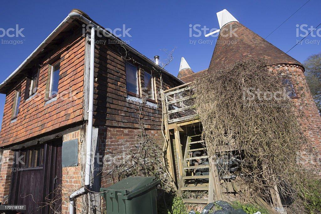 Oast House in Chiddingstone, England stock photo