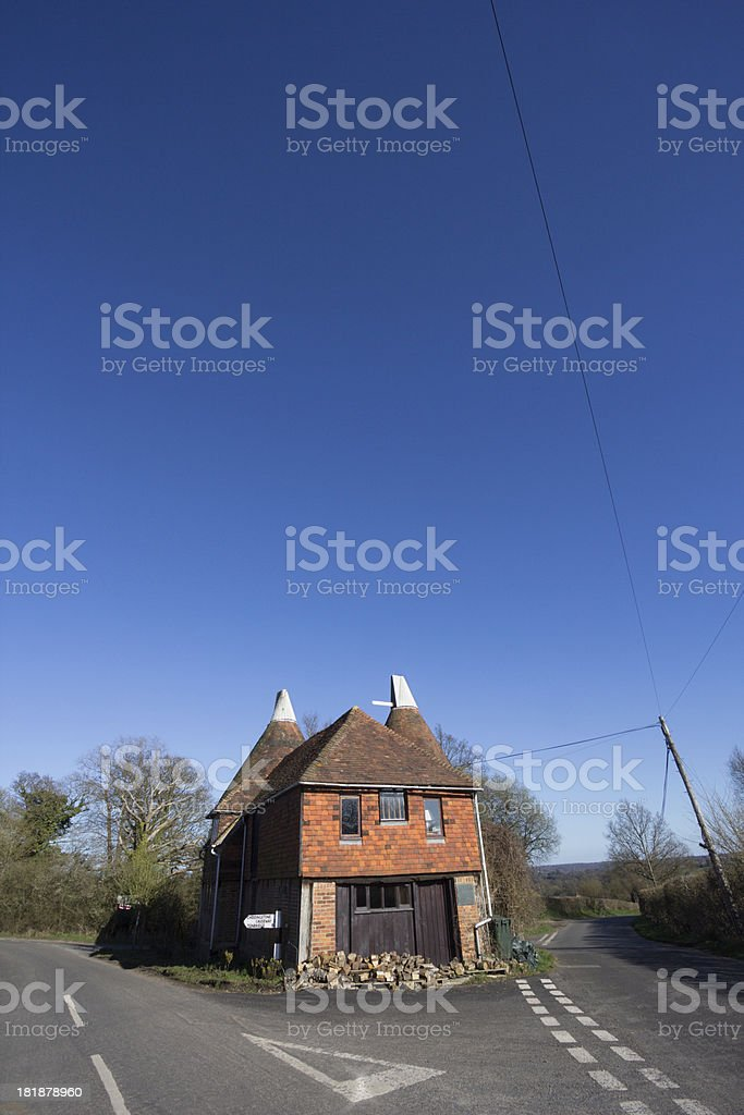 'Oast House in Chiddingstone, England' stock photo