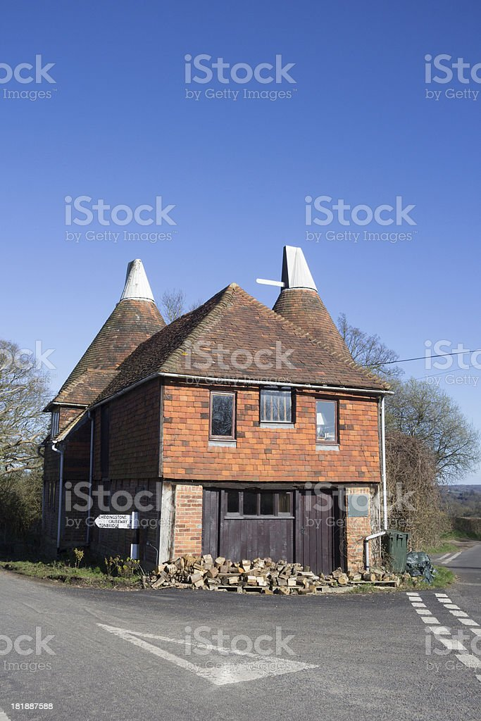 Oast House in Chiddingstone, England royalty-free stock photo