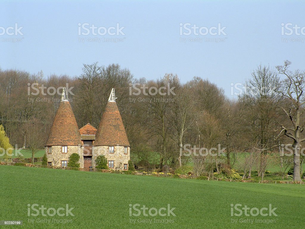 Oast House in the Garden of England stock photo
