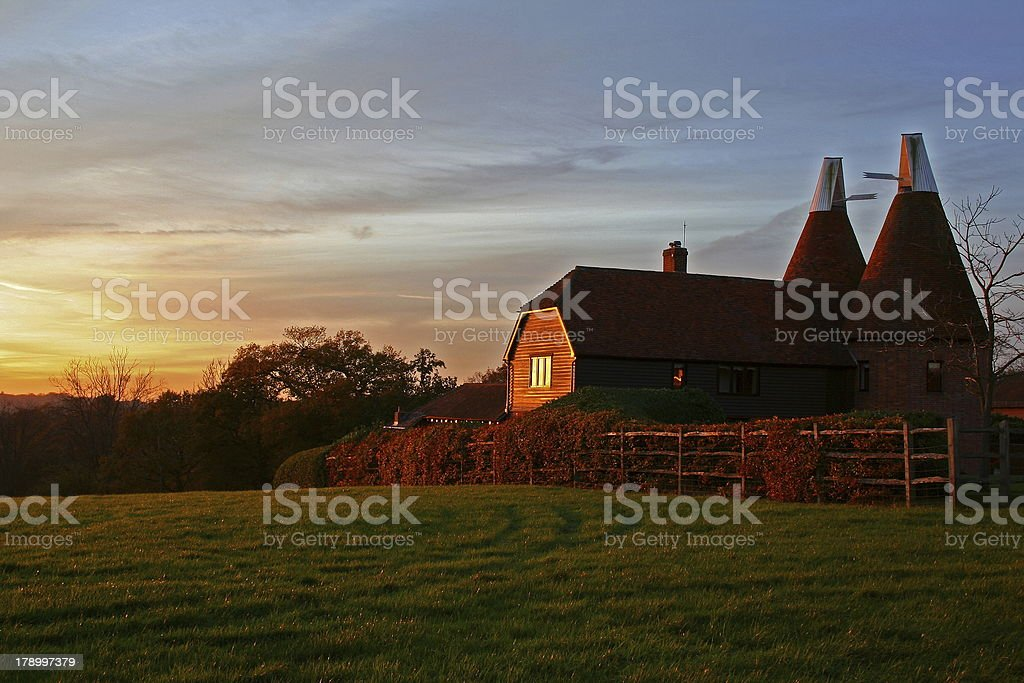 Oast House stock photo