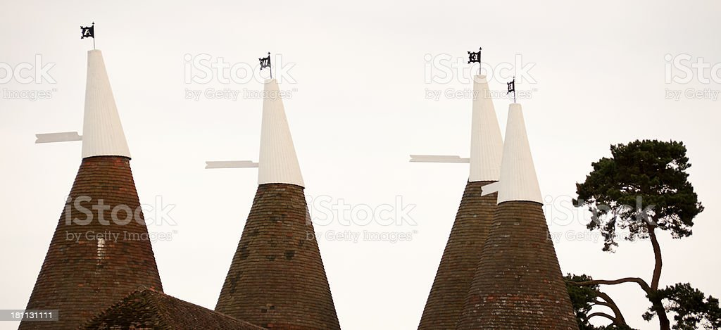 Oast Houses in Kent stock photo