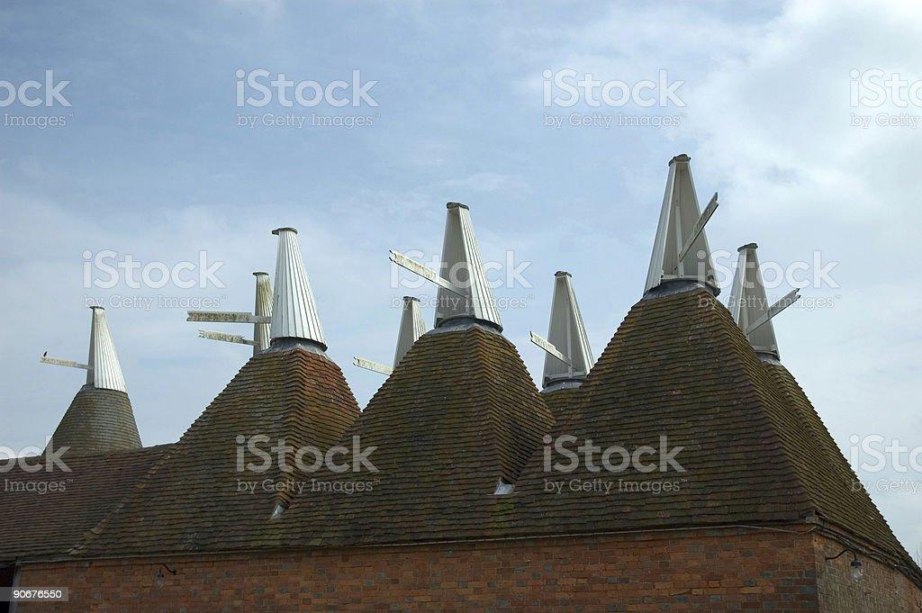 Oast houses stock photo