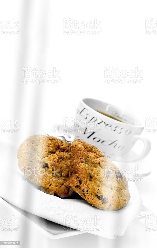 Oat and Raisin Cookies stock photo