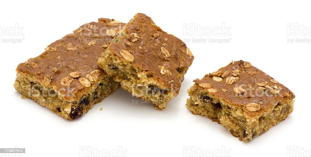 Oat and raisin snack bars royalty-free stock photo