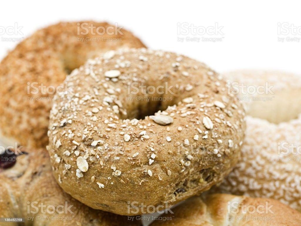 Oat bagel stock photo