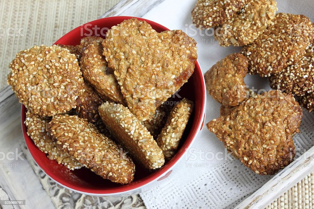 Oat biscuits. stock photo