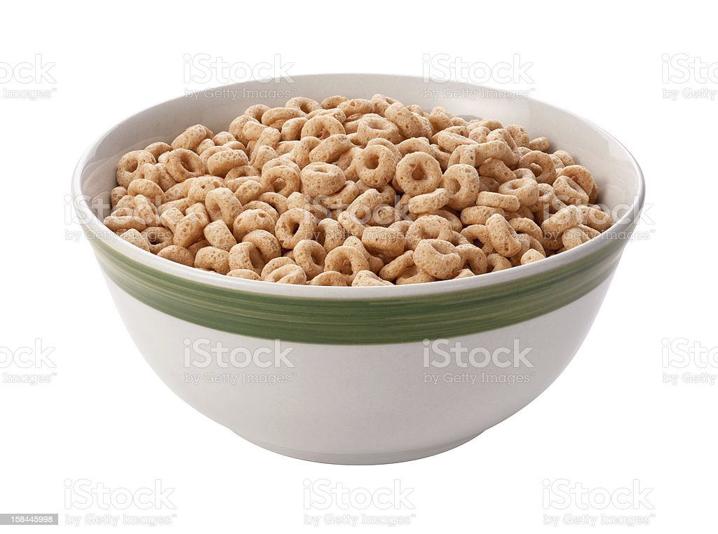 Oat Cereal Isolated with clipping path stock photo
