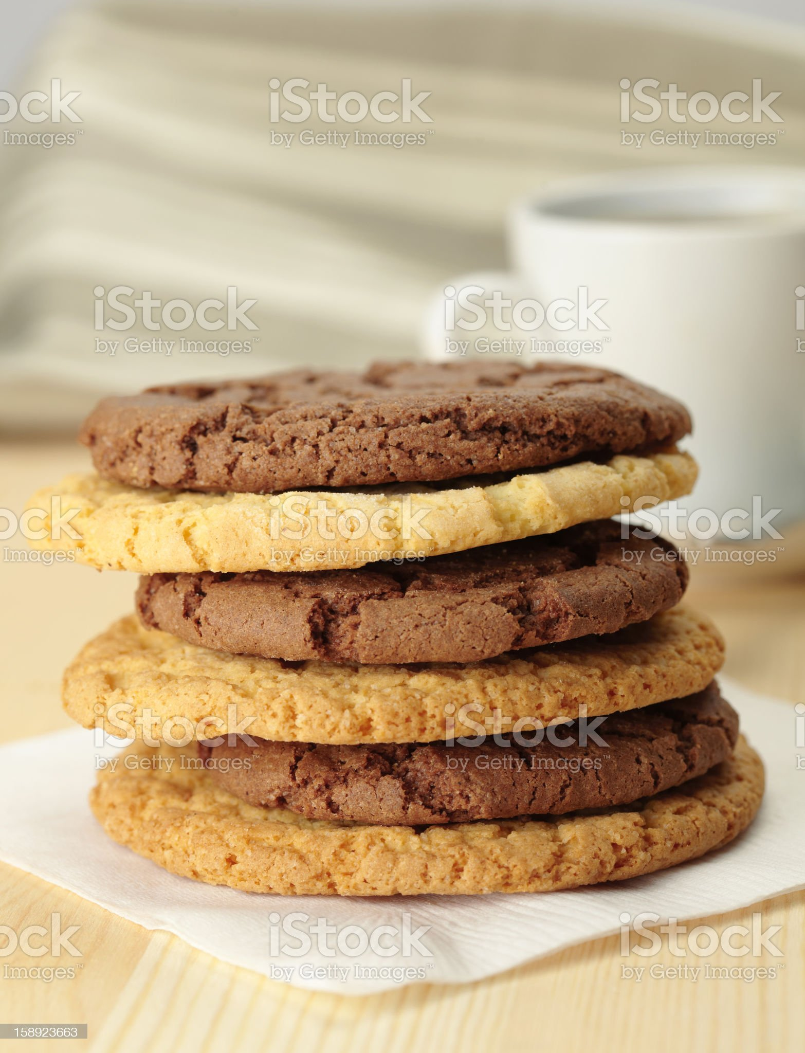 Oat cookies royalty-free stock photo