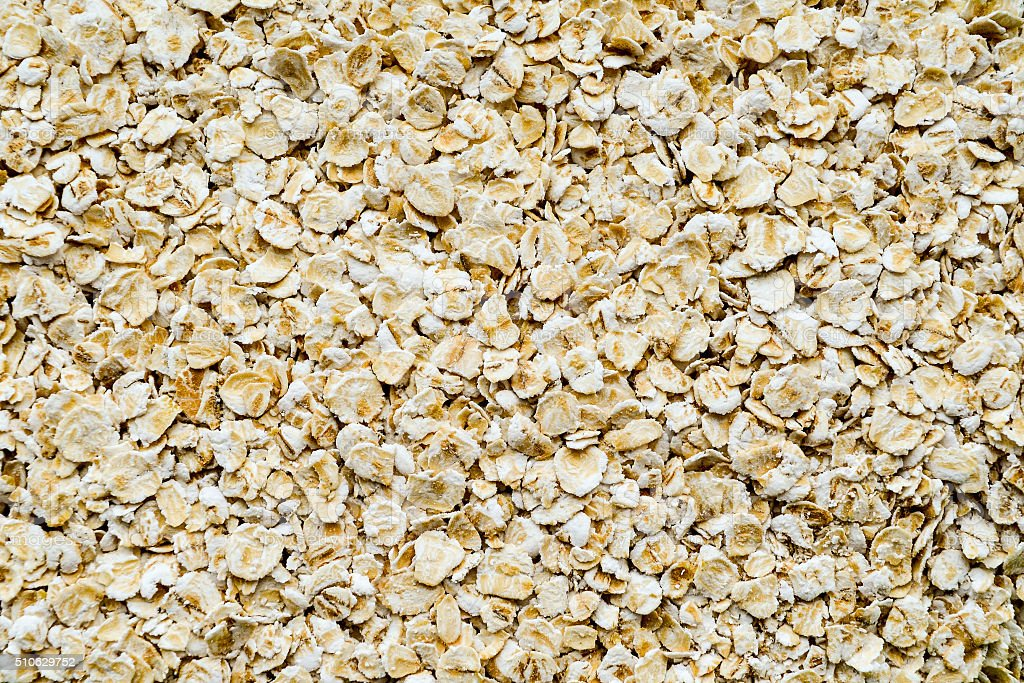Oat flakes close up background stock photo