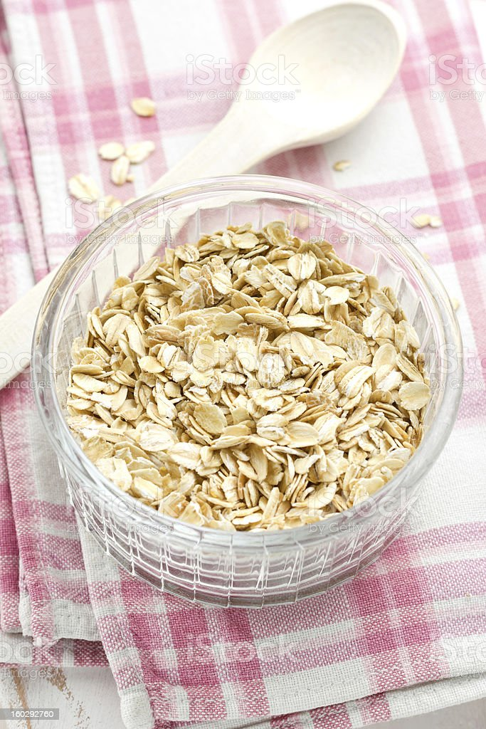Oat flakes royalty-free stock photo