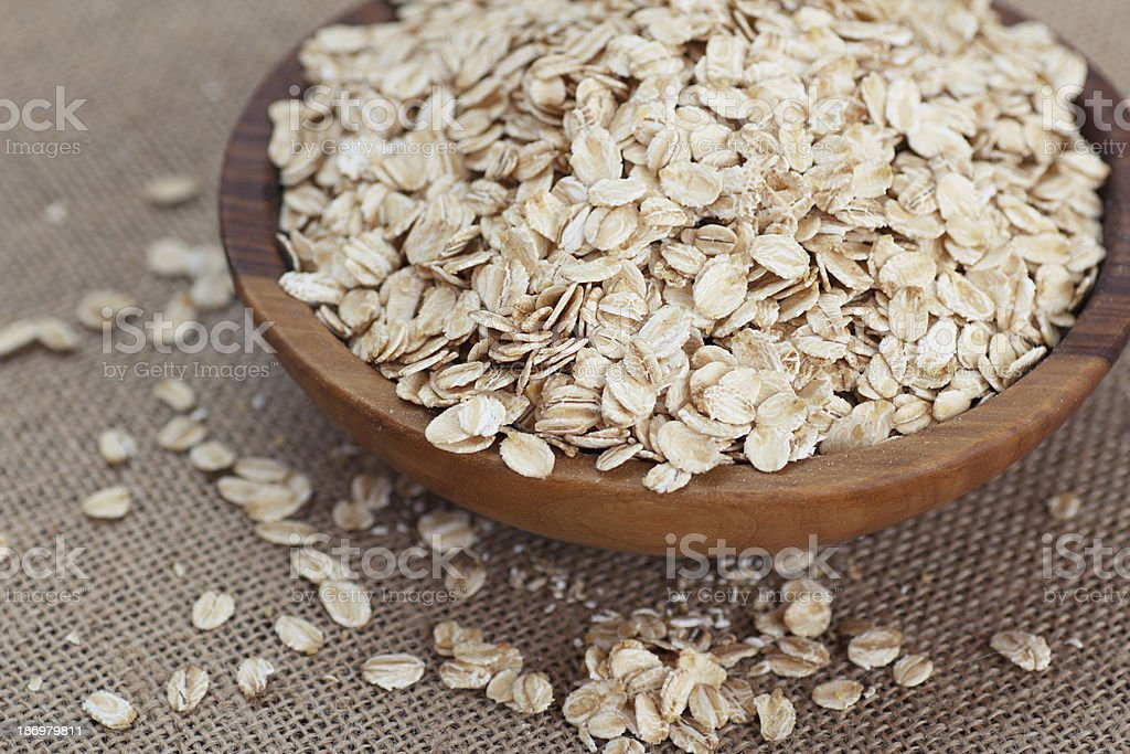oat flakes royalty-free stock photo
