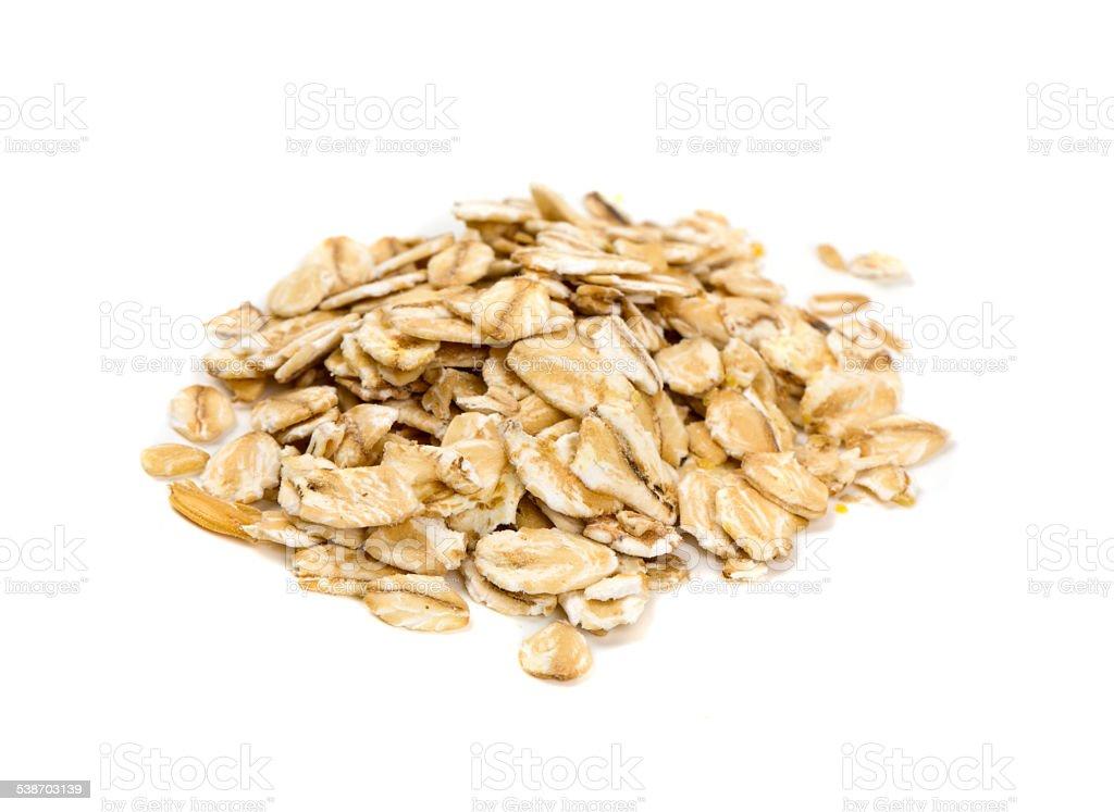 oat flakes stock photo